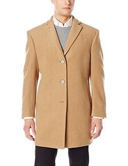 men s slim fit wool blend overcoat