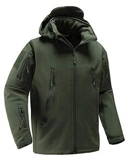 Abollria Men's Waterproof Windproof Softshell Fleece Army Ta