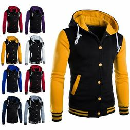 Men's Winter Hoodie Outwear Sweater Warm Coat Baseball Jacke