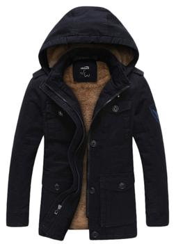 Wantdo Men's Winter Thicken Cotton Outwear Coat with Removab