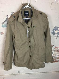 Wantdo Men's Zip And Button Up Jacket Coat Military Style NW