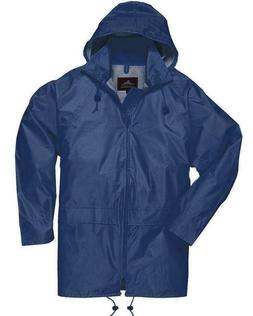 Men Womens Rainwear Waterproof Rain Jacket Coat Attached Hoo