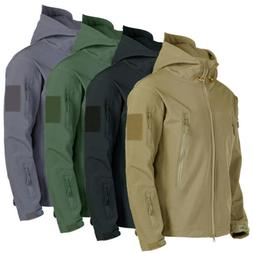 Mens Coats Jackets Tops Military Tactical Fleece Outerwear W
