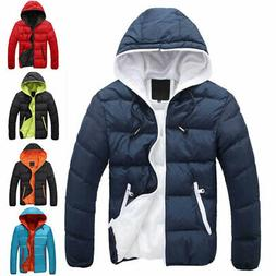 Mens Hoodie Bubble Coats Padded Puffer Jacket Winter Warm Qu