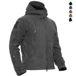 Mens Outdoor Winter Fleece Tactical Army Jacket Windproof Hi