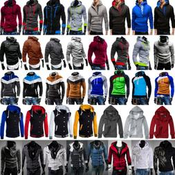 Mens Warm Hoodies Hooded Sweatshirt Sweater Pullover Jumper