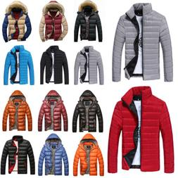 MENS WINTER WARM PUFFER BUBBLE JACKET COATS CASUAL QUILTED P
