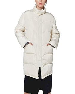 mewow Women's Winter Lightweight Quilted Cotton Jacket Long