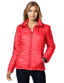 Columbia Women's Mighty Lite III Jacket, Red Hibiscus, Large