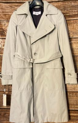NEW NWT Calvin Klein Water Resistant Khaki Belted Lined Tren