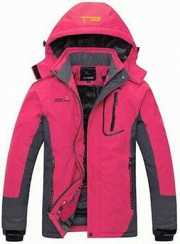Wantdo NEW Pink Women's Size Large L Colorblock Hooded Front