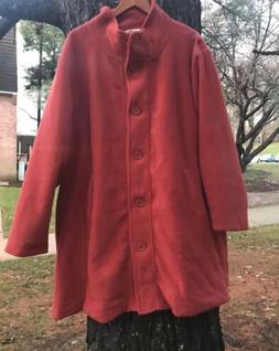 8db289154b1 NEW!! WOMAN WITHIN PLUS SIZE SWING COAT BURNT ORANGE 3X