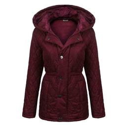 NEW Women's Jacket size XX_Large, Hood, Zip up Quilted Jacke