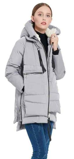 NEW Orolay Women's Thickened Down Jacket GRAY S Winter Coat