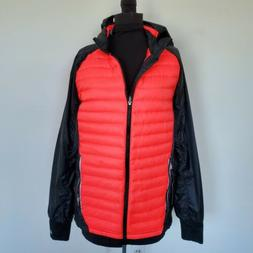 NWT $150 Mens ASICS Packable Red & Black Down Puffer Jacket