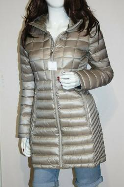 NWT Calvin Klein Hooded Quilted Zip Front Packable Women's C