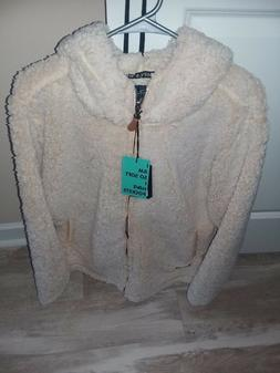 NWT New Women's Simply Southern Sherpa Full Zip Jacket Coat