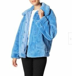 NWT Nordstrom Urban Republic Blue Faux Fur Coat Size Large L