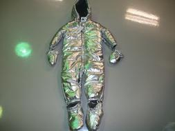 nwt silver puffer snowsuit coat size 12