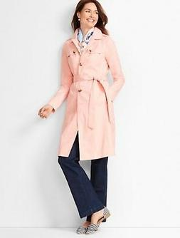 NWT SOLD OUT Talbots Rose Quartz Pink Modern Trench Coat Sz
