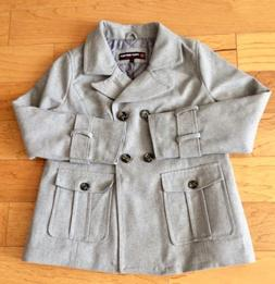 NWT: Urban Republic Women's Gray Pea Coat Jacket Size Large