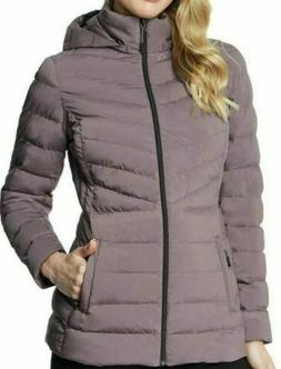 NWT Women's Silver 32 DEGREES Quilted 4-Way Stretch Puff Coa