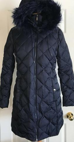 nwt womens diamond quilted down hooded coat