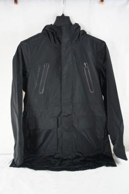 NWT Calvin Klein Womens Hooded Rain Coat Black Size S PF7J44