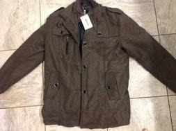 nwt wool blend single breasted military peacoat