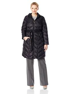 Ellen Tracy Outerwear Women's Plus-Size Mid Length Chevron P