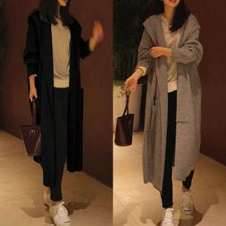 Oversized Womens Long Sleeve Knitted Cardigan Sweater Casual