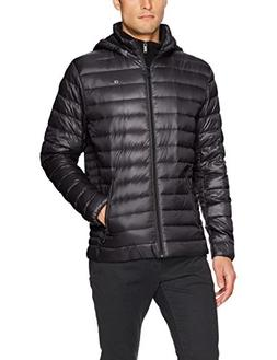 Calvin Klein Men's Packable Down Hoody Jacket, Black, Medium