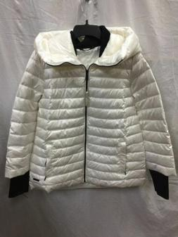 CALVIN KLEIN PERFORMANCE DOWN PUFFER COAT WHITE M - NEW WITH