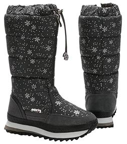 Platform Snow Boots for Women Plus Size, Plush Lined Mid-Cal