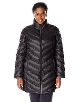 Calvin Klein Women's Plus-Size Chevron-Quilted Packable Down
