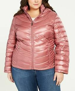 plus size hooded packable down puffer coat