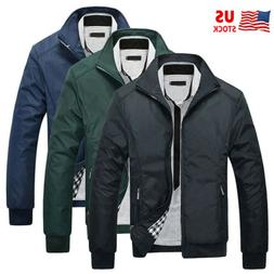Plus Size Men's Waterproof Coat Bomber Jacket Cargo Casual W