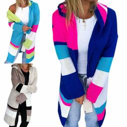Plus Size Women Long Sleeve Sweater Loose Knitted Hoodie Car
