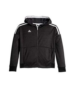 adidas Kids Girl's Poly Fleece Jacket  Black 095a Small
