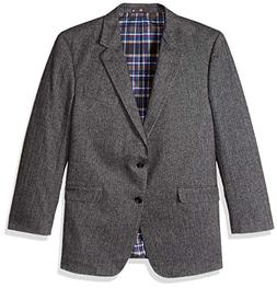 U.S. Polo Assn. Men's Portly Wool Blend Sport Coat, Grey Her