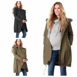 Pregnant Womens Winter Warm Long Jacket Coat Maternity Kanga