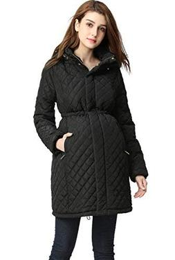 "Momo Maternity ""Prue Quilted Parka Coat - Black M"