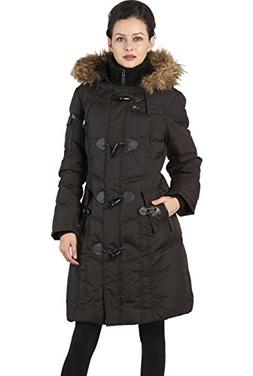 BGSD Women's Waterproof Quilted Down Toggle Coat - L