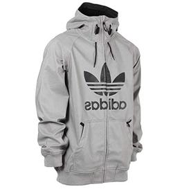 adidas Skateboarding Men's Greeley Soft Shell Jacket Grey He