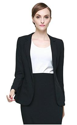 Orolay Women's Solid Casual Work Office Suit Coat Blazer Jac