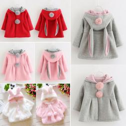Toddler Baby Girl Hooded Jacket Coat Newborn  Kids Winter Ra