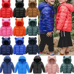 Toddler Baby Girls Boys Winter Casual Windproof Coat Hooded