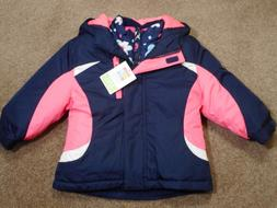Toddler girls Jackets Navy blue Pink 3 in 1 Jacket Outerwear