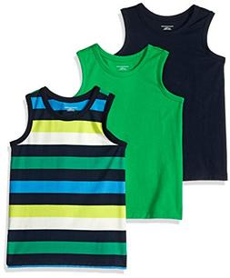 Amazon Essentials Toddler Boys' 3-Pack Tank, Bright Green/Mu