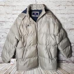 U.S. Polo Assn. Men's Quilted Puffer Coat Size XXL Khaki Lin